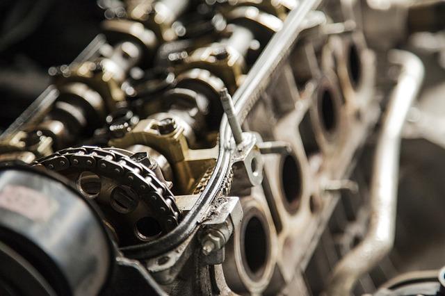 silnik blok i łańcuch